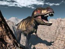Tyrannosaurus rex dinosaur roaring - 3D render Royalty Free Stock Images