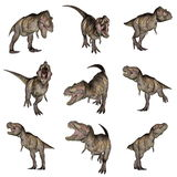 Tyrannosaurus rex dinosaurs - 3D render Stock Photography