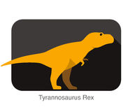 Tyrannosaurus Rex dinosaurs flat vector, Simple illustration, Stock Photo