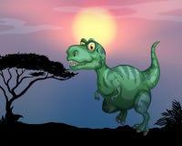 Tyrannosaurus rex in the field Stock Photography
