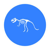 Tyrannosaurus rex icon in black style isolated on white background. Museum symbol stock vector illustration. Royalty Free Stock Images
