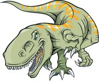 Tyrannosaurus Rex Illustration. On white background Stock Images