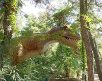 Tyrannosaurus rex-Late Cretaceous /150-65 million years ago. In Royalty Free Stock Image