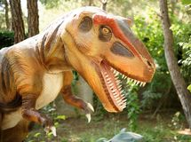 Tyrannosaurus rex-Late Cretaceous /150-65 million years ago. In Stock Photography
