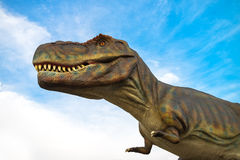 Tyrannosaurus rex life-size model in dinosaurus entertainmnet th Stock Photography