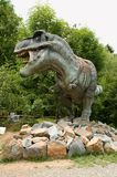 Tyrannosaurus Rex. Sculpture in live size Stock Photo
