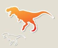 Tyrannosaurus Rex sticker Royalty Free Stock Image