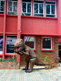 Tyrannosaurus Rex Dinasour at street in Melaka Stock Photography
