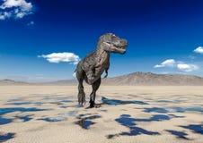 Free Tyrannosaurus Rex Walking Alone On Desert Royalty Free Stock Photo - 182723495