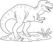 Tyrannosaurus Rex. Wanders in search of prey Stock Photos