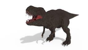 Tyrannosaurus rex on white background, 3d rendering. Tyrannosaurus rex on white background, 3d render Royalty Free Stock Photography
