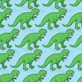 Tyrannosaurus seamless pattern.. Angry prehistoric reptile pattern. Ancient animal predator background. Aggressive Raptor Jurassic period. Paleontology texture Royalty Free Stock Photography