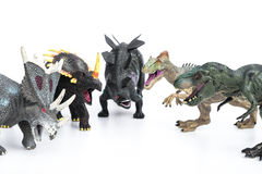 Tyrannosaurus and stegosaurus and styracosaurus and allosaurus Stock Images