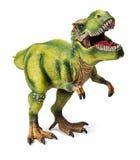 Tyrannosaurus, stuk speelgoed met het knippen van weg Stock Foto's