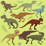 Tyrannosaurus t-rex dinosaur vector. Royalty Free Stock Photography