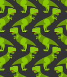 Tyrannosaurus t-rex seamless pattern. Background of  big green p Stock Image