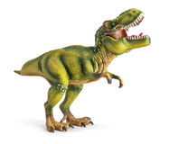 Tyrannosaurus, toy with clipping path. Stock Photo
