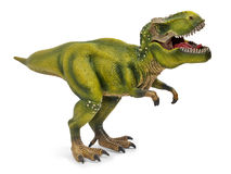 Tyrannosaurus, toy with clipping path. Tyrannosaurus dinosaurs toy isolated on white background with clipping path Royalty Free Stock Photo