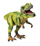 Tyrannosaurus, toy with clipping path. Stock Photos