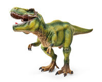 Tyrannosaurus, toy with clipping path. Royalty Free Stock Image