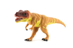 Tyrannosaurus toy isolated on white Stock Image