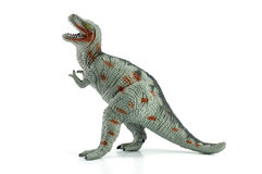 Tyrannosaurus toy isolated on white. Background Stock Photo