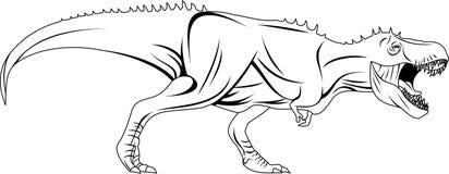 Tyrannosaurusrex wektor royalty ilustracja