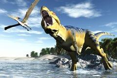 Tyrannosaurussen vector illustratie