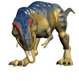 Tyrannosaurussen t -t-rex rex, dinosaurusillustratie Stock Afbeelding