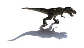 Tyrannosaurusstuk speelgoed met schaduw Royalty-vrije Stock Afbeeldingen