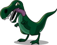 Tyrannosurus rex cartoon illustration. Hungry Tyrannosaurus REX looking madly  illustration Stock Images