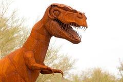 Tyrannus Saurus Rex dinosaur sculpture Royalty Free Stock Images