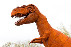 Tyrannus Saurus Rex dinosaur sculpture Stock Photography