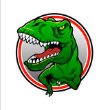 Tyranosaurus rex Vectortekening Stock Foto