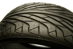 Tyre. Closeup of rubber tyre tread Royalty Free Stock Photo