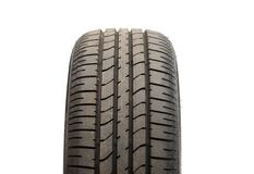 Tyre. Car tyre isolated on white background Royalty Free Stock Images