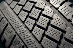Tyre. Closeup texture of a car tyre Royalty Free Stock Photos