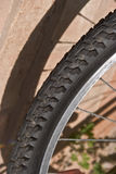 Tyre. A rubber  kevlar bicycle tyre Royalty Free Stock Image