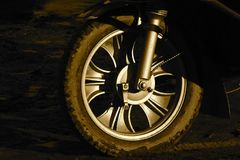 A tyre of an auto taxi vehicle stock photograph royalty free stock photos