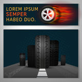 Tyre Banners Image Royalty Free Stock Photography