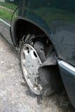 Tyre car. No damage... but destruction tyre car Stock Images
