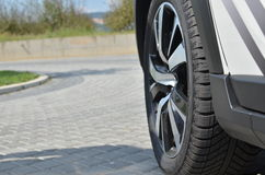 Tyre on a Car Royalty Free Stock Photography
