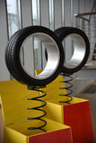 Tyre. Car tire for use on the road Stock Image