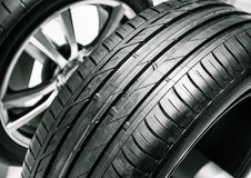 Tyre. Cars tyre close up picture Stock Images
