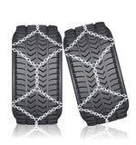 Tyre with chain Royalty Free Stock Image