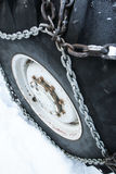 Tyre chain Royalty Free Stock Photo