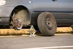 Tyre Change Stock Photo