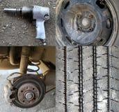 Tyre change Stock Photos