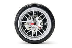 Tyre Clock Royalty Free Stock Photography