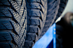 Tyre close up Stock Photography
